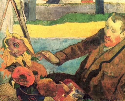 ゴーギャンによる、ひまわりを描くゴッホの肖像(1888年11月) ゴーギャン