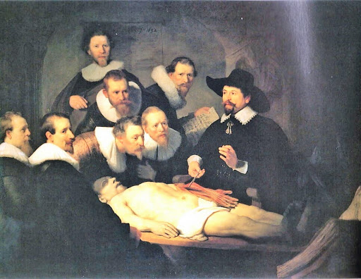 レンブラント 「トゥルプ博士の解剖学講義」