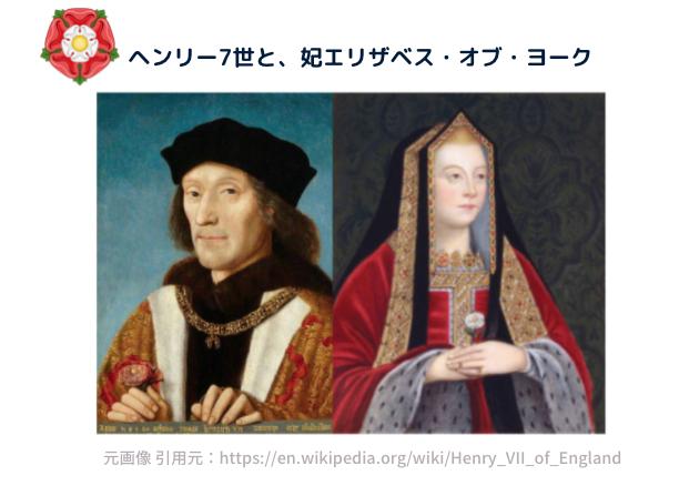 ヘンリー7世と、エリザベス・オブ・ヨーク