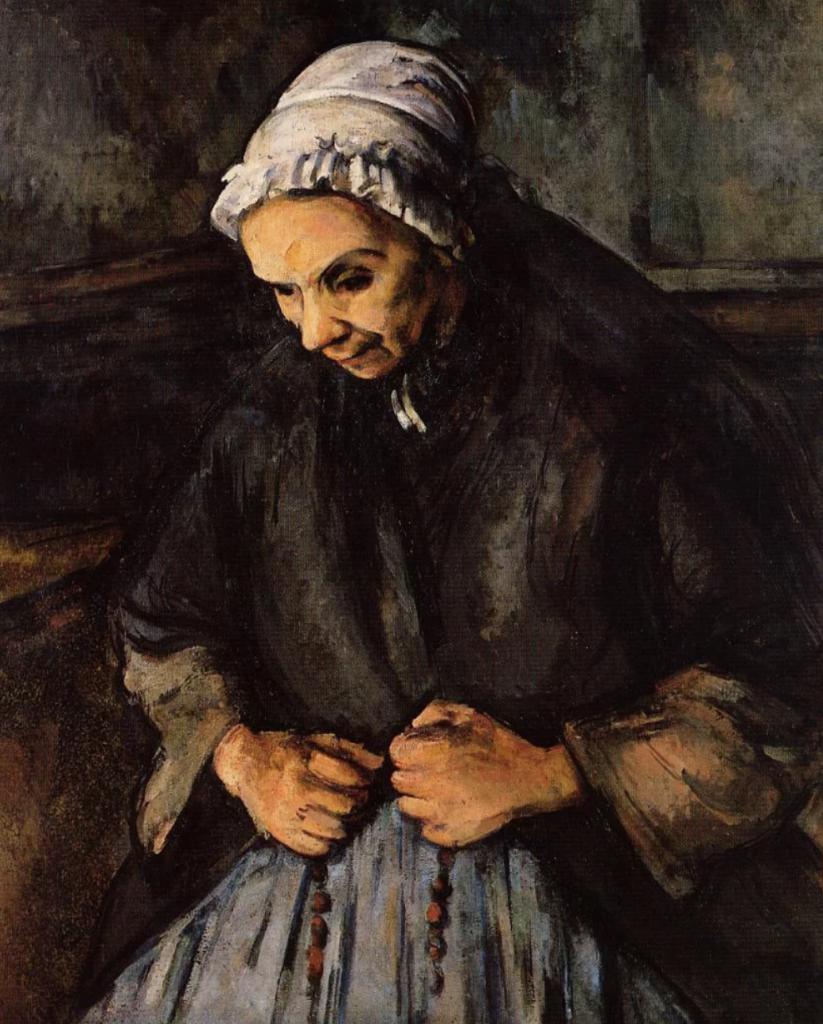 ポールセザンヌ:ロザリオの老婆