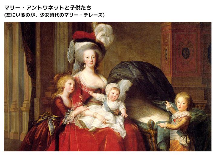 マリー・アントワネットと子供達
