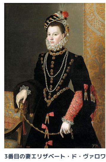 3番目の妻エリザベート・ド・ヴァロワ