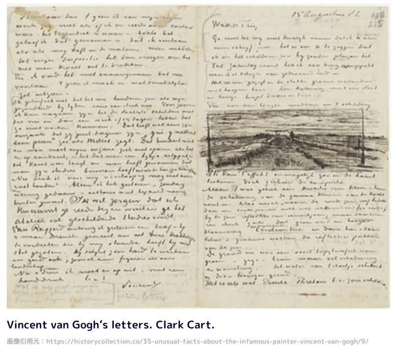 Vincent van Gogh's letters. Clark Cart.
