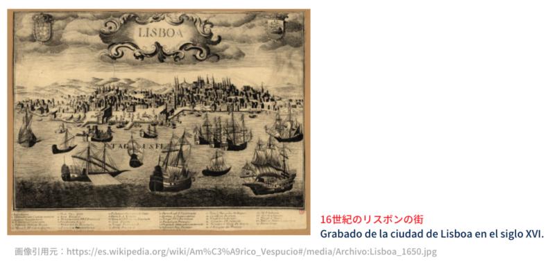 16世紀のリスボンの街