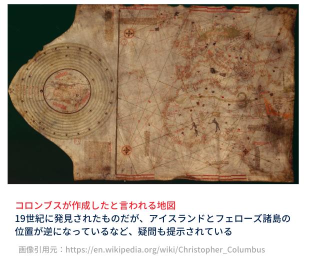 コロンブスが描いたとされる地図