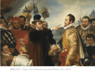Philip II berating William the Silent, by Cornelis Kruseman; Credit – Wikipedia