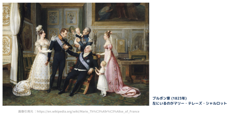 ブルボン家 左がマリー・テレーズ(1823年)