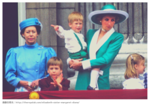 マーガレット王女とダイアナ妃