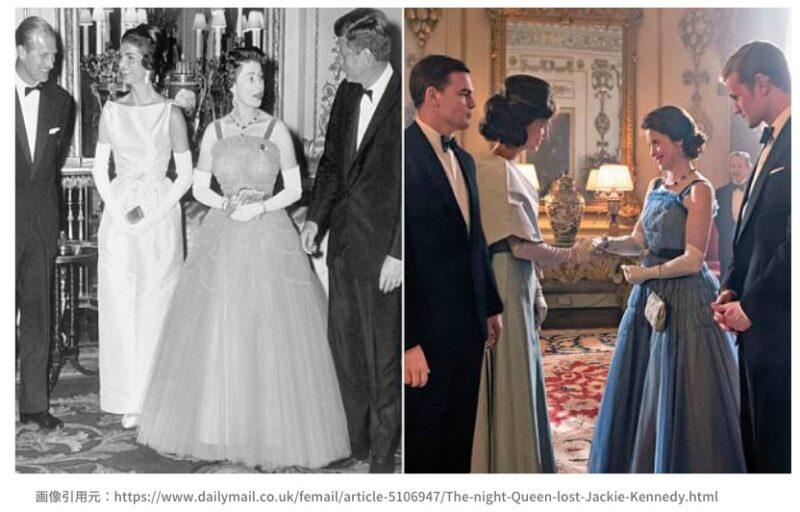 ザクラウン ケネディ夫人とエリザベス女王