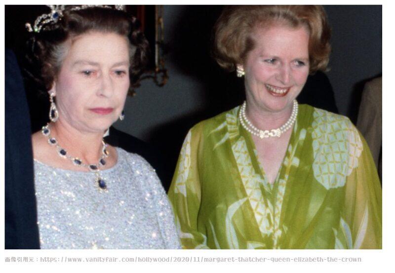 エリザベス女王とマーガレット・サッチャー首相