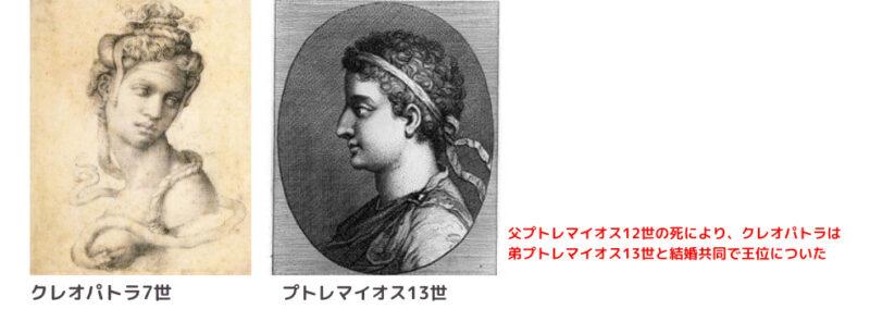 クレオパトラ7世 (兄弟婚で共同統治)