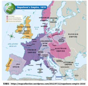 ナポレオンの支配領域