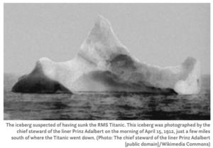 タイタニックと氷山
