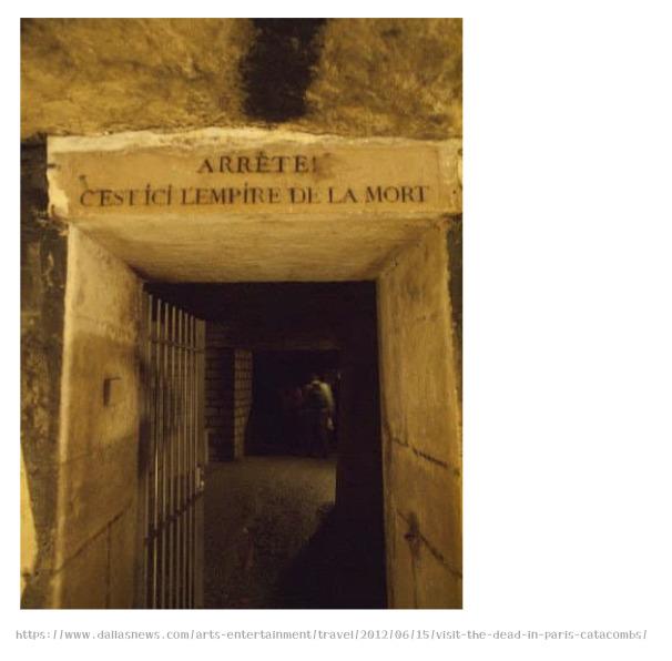 パリのカタコンベ、背筋も凍る地下墳墓