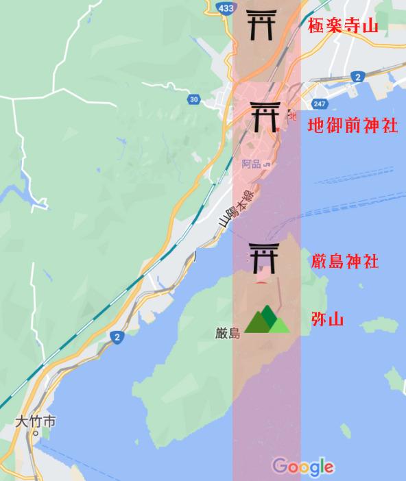 弥山の七不思議 (イメージ図)